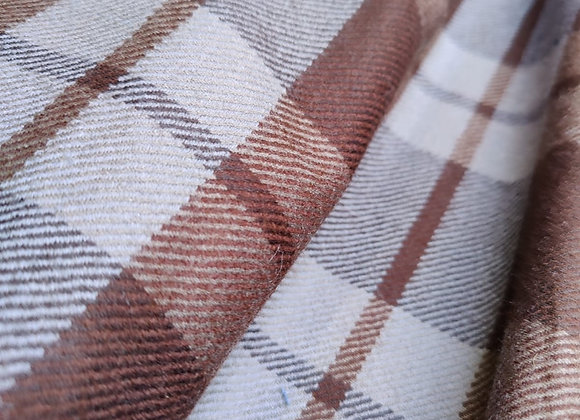 Brown/Grey Check Wool
