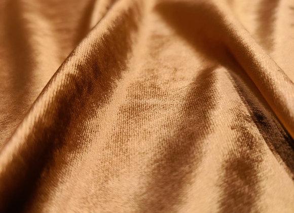 Golden Bronze Cotton Velvet