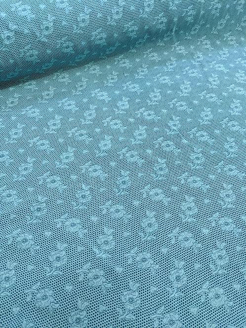 Blue Flower Viscose Crepe