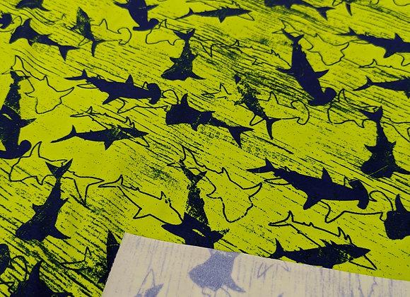Shark Neon green 4-way stretch