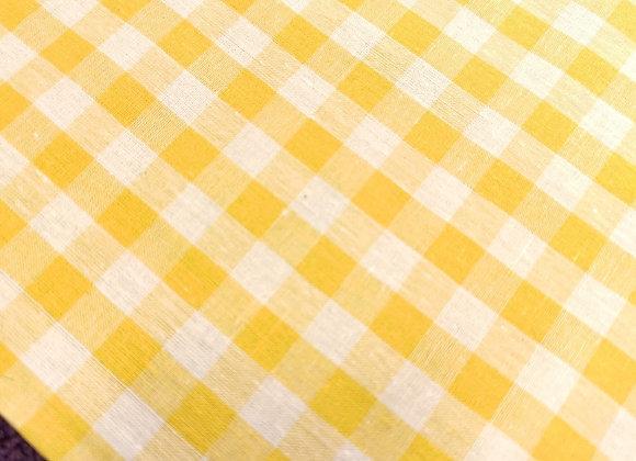 Yellow Gingham 100% Cotton