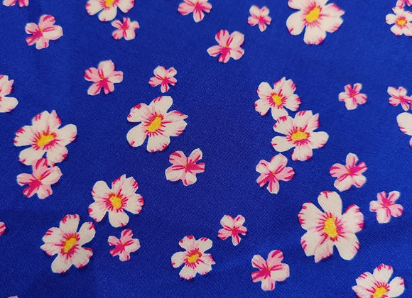 Harriet Blue Floral Viscose Challis