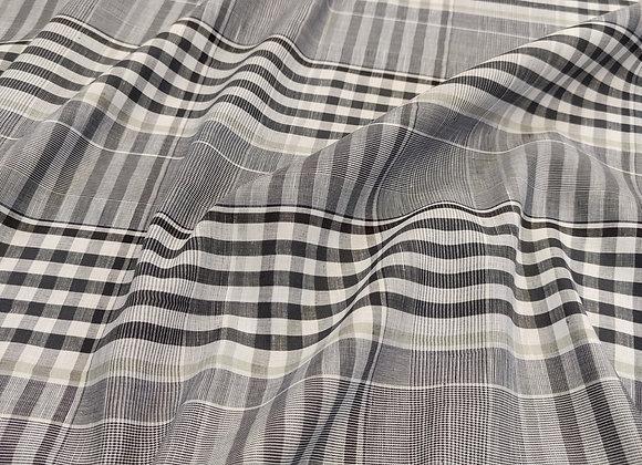 Black Checked Cotton Linen - Alice Temperley