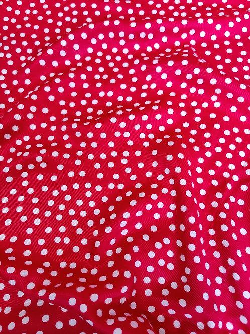 Red Irregular Polka Dot PolyViscose