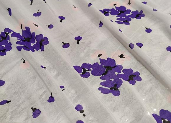Grey/Purple Floral Silk - Alice Temperley