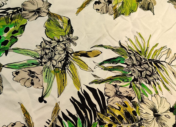 Floral Drawing Viscose Marocaine - 2.85m piece
