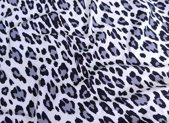 Grey Leopard Print Viscose