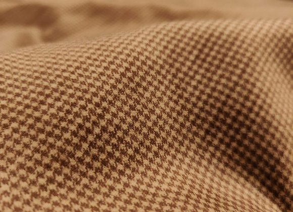 Brown Dogtooth Cotton Velvet