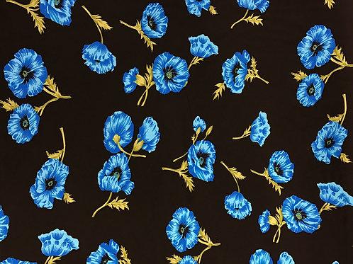 Floral Black Viscose