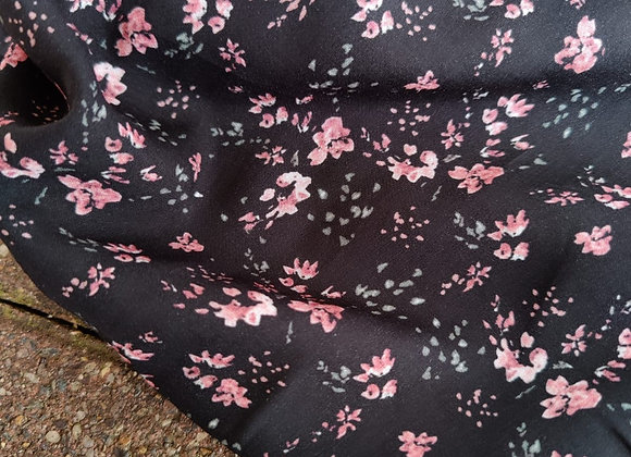 Pink Floral Poly Lawn