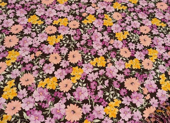 Purple/Lilac Floral Poly Viscose