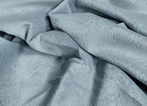 Light Blue Cotton Velvet Jacquard