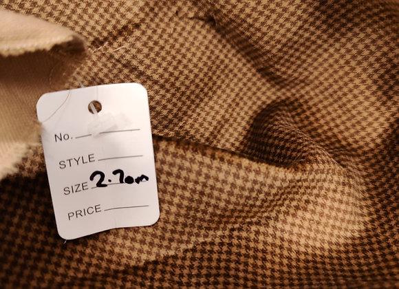 Brown Houndtooth Cotton Velvet - 2.70m piece
