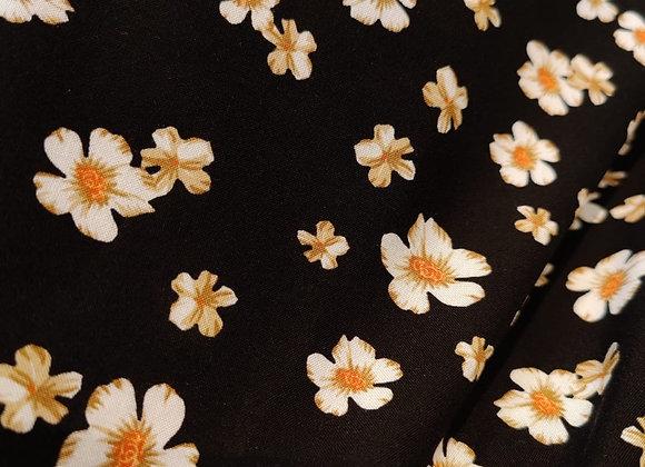 Harriet Black Floral Viscose Challis