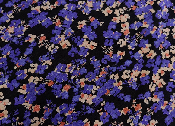 Purple Floral Viscose Jersey