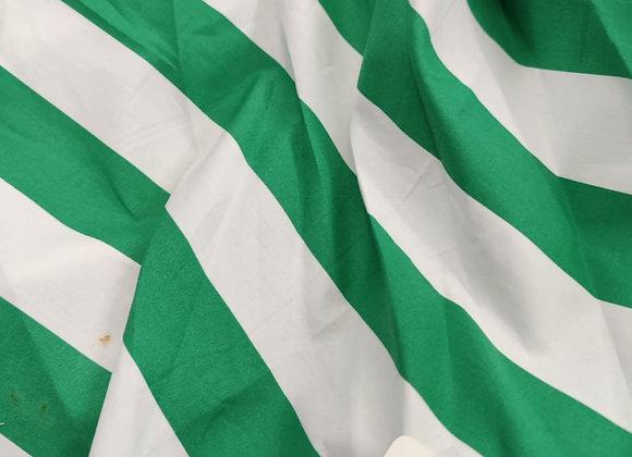 Green stripe Cotton Sateen - 1.40m piece