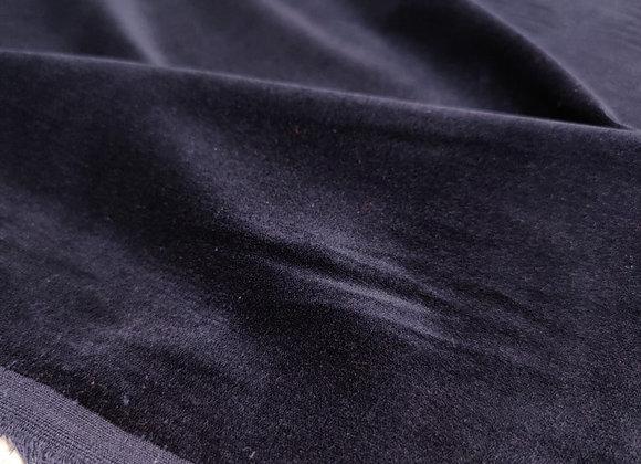 Navy Cotton Velvet