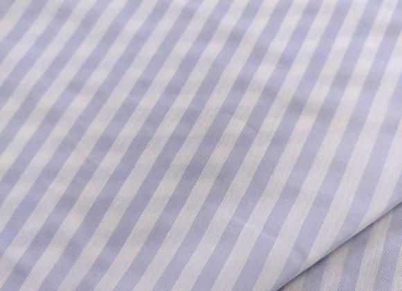Light Blue Striped Viscose Rayon - 3 metre piece