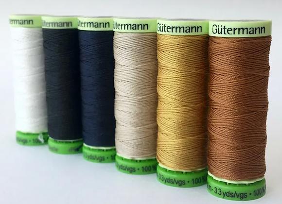 2x Matching Gutermann Poly Thread (100m)