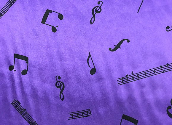 Musical Note Purple Satin