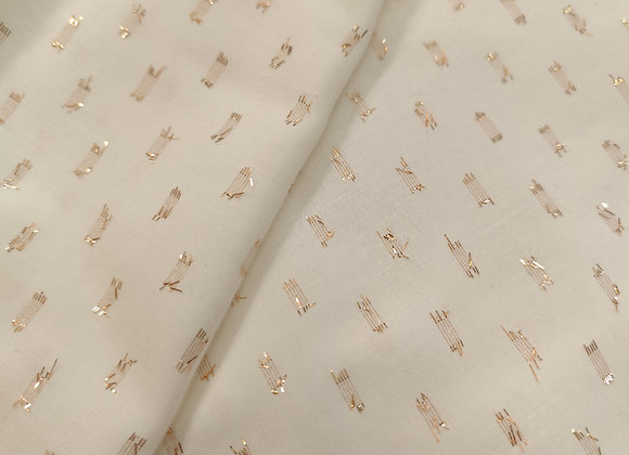 Ivory Viscose with Rose Gold Lurex