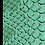 Thumbnail: Turquoise Lizard Print Leather