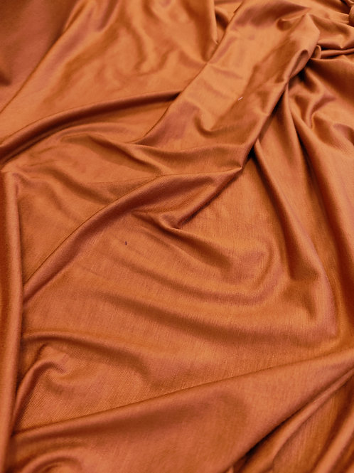 Burnt Orange Viscose Jersey