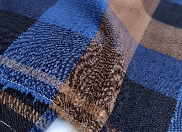 Blue/Brown Mixed Wool