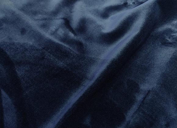 Rich Mid Blue Cotton Velvet