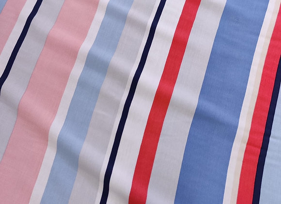Multi-Stripe Viscose Challis