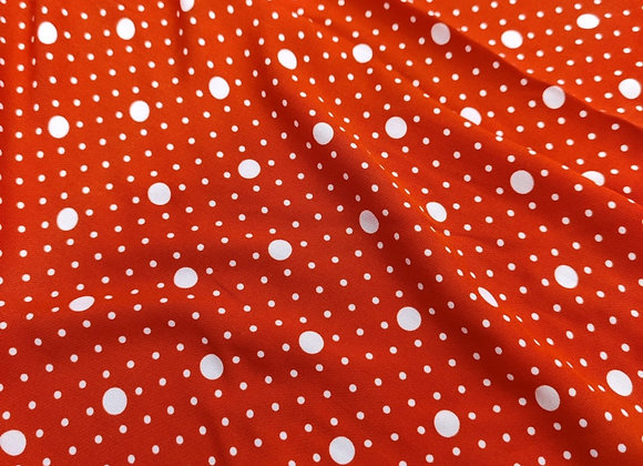 Orange/Red Polka Dot