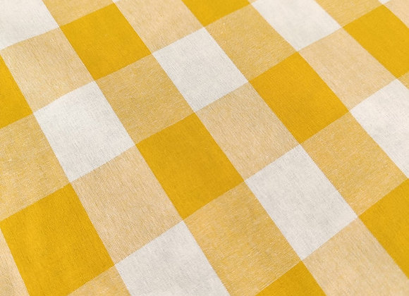 Yellow Large Gingham Cotton