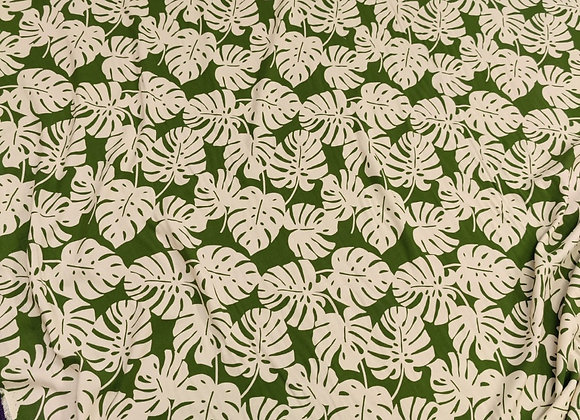 Green / Cream Palm Viscose Challis