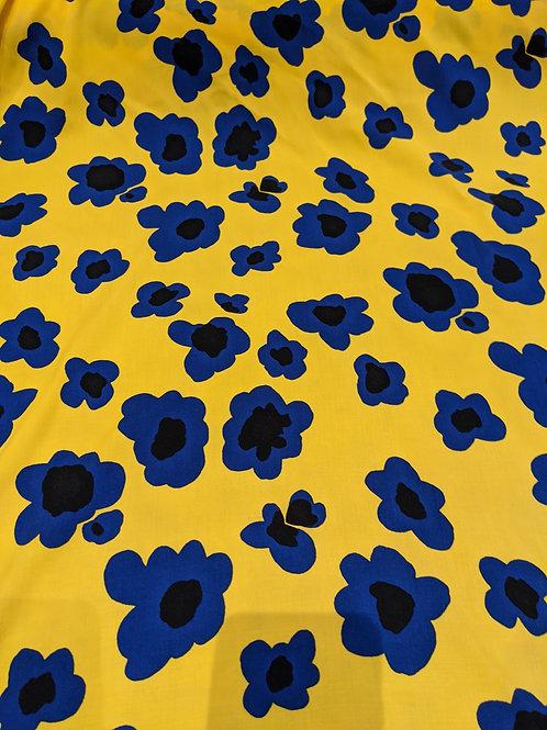 Yellow Floral Viscose