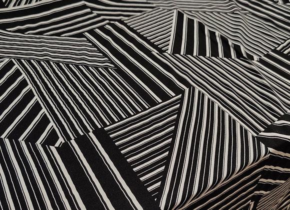 Abstract Viscose Challis - 3 metre piece