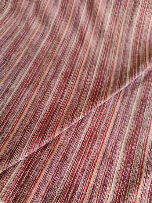 Red/Beige/Plum Cotton Needlecord