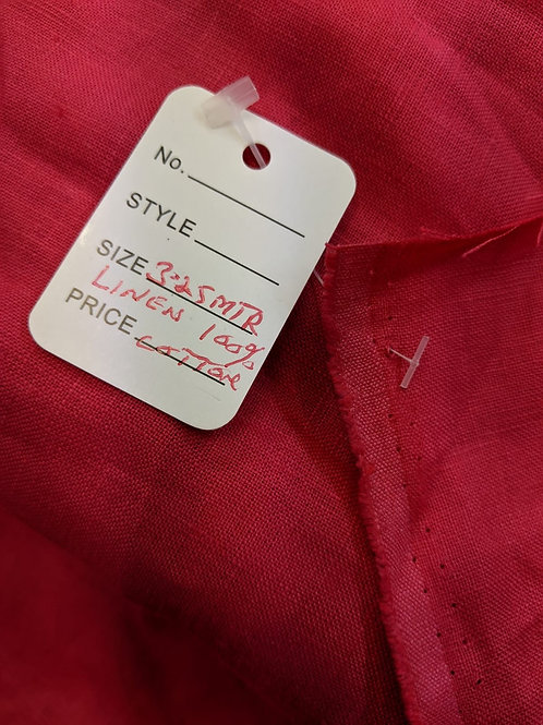 Pink/red Irish linen - 3.25m