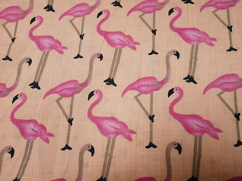 Peach/Pink Flamingo 100% Cotton