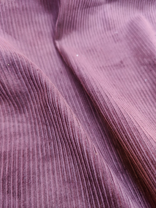 Plum Purple Cotton Corduroy