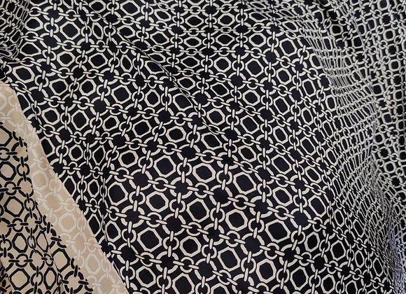 Chain Print Satin - 5.5m piece