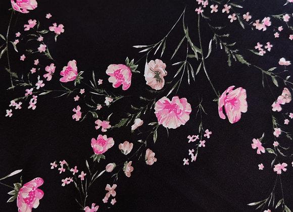 Scatter Pink Floral Viscose Lawn