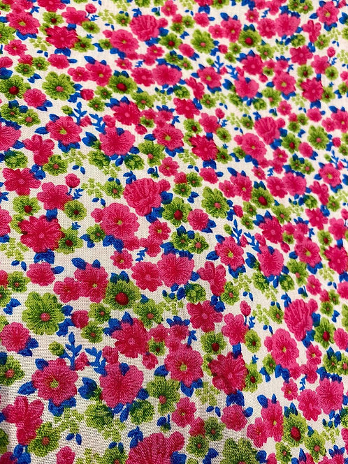 Pink/Green Small Flower Viscose