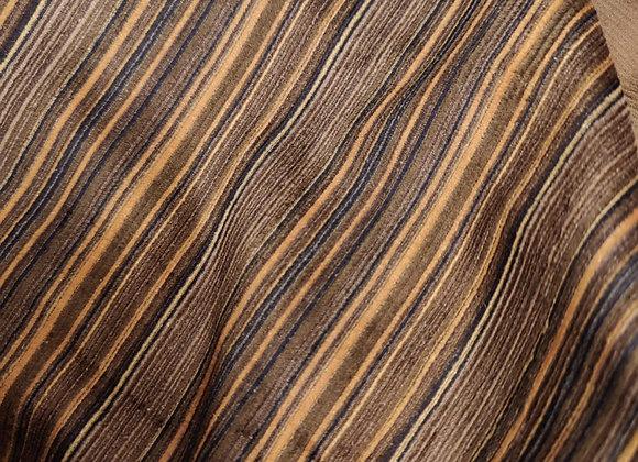 Brown/Navy Stripe Cotton Cord - 3m piece