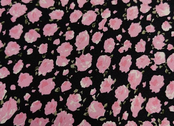 Pink Rose Viscose Challis
