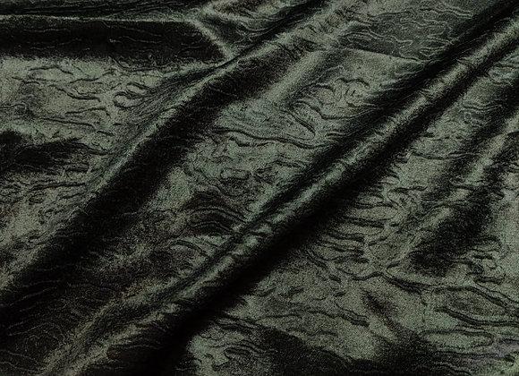 Irregular Black Cotton Velvet