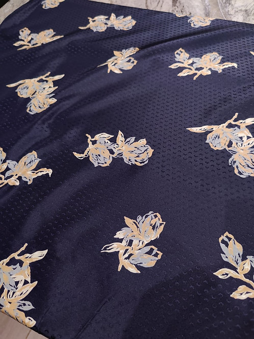 Poly Navy Floral Lining