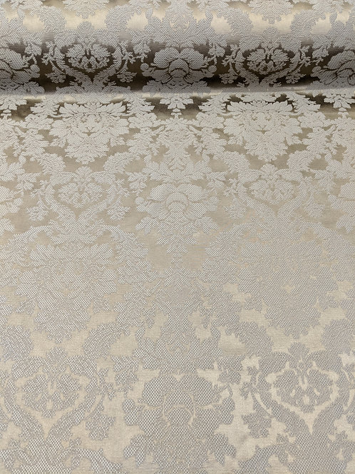 Damask Gold and White Floral Royal Print