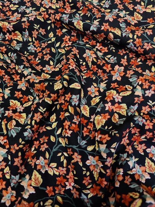 Rust Small Leaves Viscose