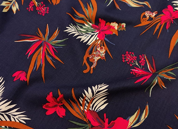 Floral Monkey Business Viscose Challis