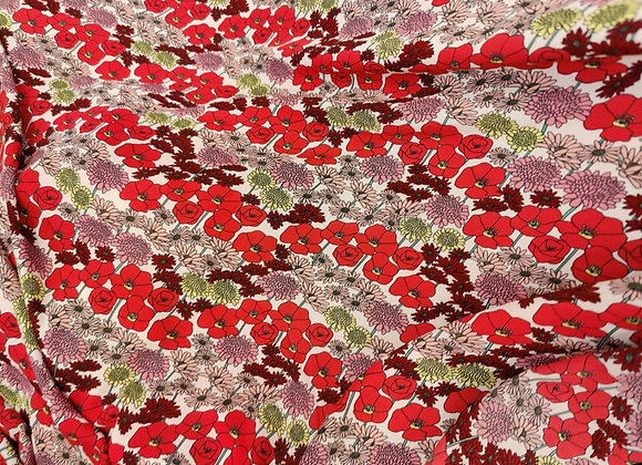 Poppy Viscose Challis - 3 metre piece